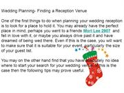 Wedding Planning- Finding a Reception Venue