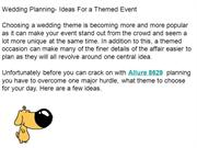 Wedding Planning- Ideas For a Themed Event