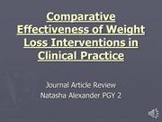 JC2011-12 Comparative Effectiveness of Weight Loss Interventions - Dr