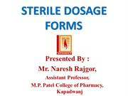 sterile dosage forms