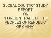 Global Country Study Report ppt tejas