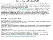 How to Convert Xvid to iPad