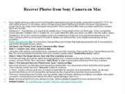 Recover Photos from Sony Camera on Mac