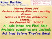 Royal Bambino offers Nursery Bedding and Nursery Gliders