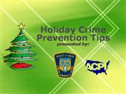 Holiday Crime Prevention Tips