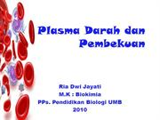 PLASMA DARAH & PEMBEKUAN