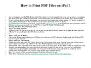 How to Print PDF Files on iPad