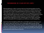 Photographing in a Club with dim Lights