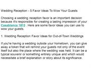 Wedding Reception - 5 Favor Ideas To Wow Your Guests