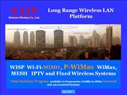 P-WiMax -WISP-WiFi-WiMax MESH Systems 2012 R3