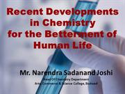 Recent Development In Chemistry