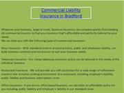Commercial Liability insurance in Bradford