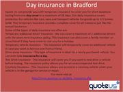 Day insurance