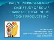 PATENT INFRINGEMENT-A CASE STUDY OF BOLAR PHARMACEUTICAL INC VT