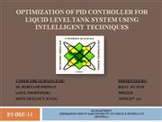 OPTIMIZATION OF PID CONTROLLER FOR LIQUID LEVEL TANK SYSTEM USING ITs