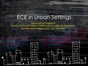 ECE In Urban Environments Chapter 8