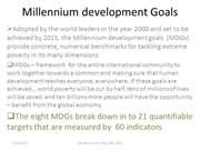 Millennium Development Goals (MDGs) __SUMMARY