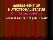 nutritional assesement