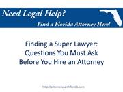 Finding a Super Lawyer