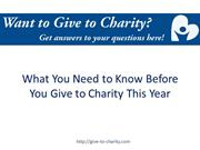 What You Need to Know Before You Give to Charity This Year