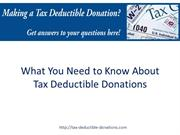 What You Need to Know About Tax Deductible Donations