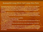 Kannapolis Garage Doors And Garage Door Parts
