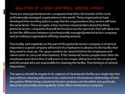 Qualities of a Good Janitorial Service Company