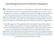 Brand Management and Online Reputation Management