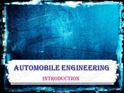 introduction to automobiles