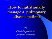 Nutritional Management in ICU