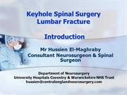 Keyhole Spinal Surgery Lumbar fracture BBC email