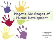 Piagets Six Stages of Child Development