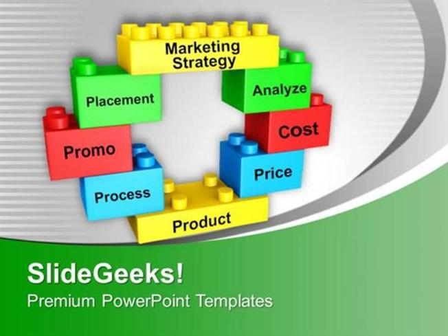 strategy marketing strategy on building blocks ppt template, Modern powerpoint