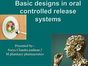 basic degins in oral controlled release system