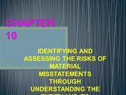 IDENTIFYING AND ASSESSING THE RISKS OF MATERIAL MISSTATEM