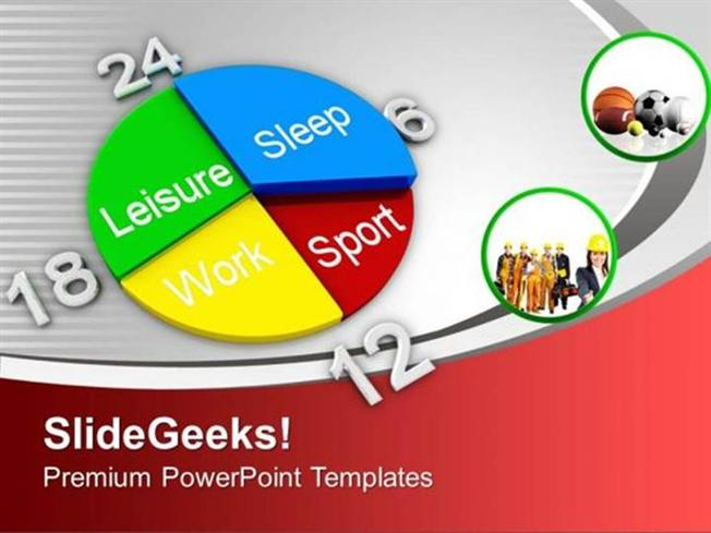 Pie Charts Time Planner For Sports Games Ppt Template Powerpoint