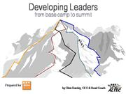 Chris Barclay- Developing Leaders