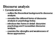 DISCOURSE ANALYSIS1