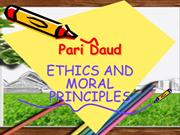 ethics and moral principles