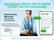 Text Message service How to choose the best one for your business- mes