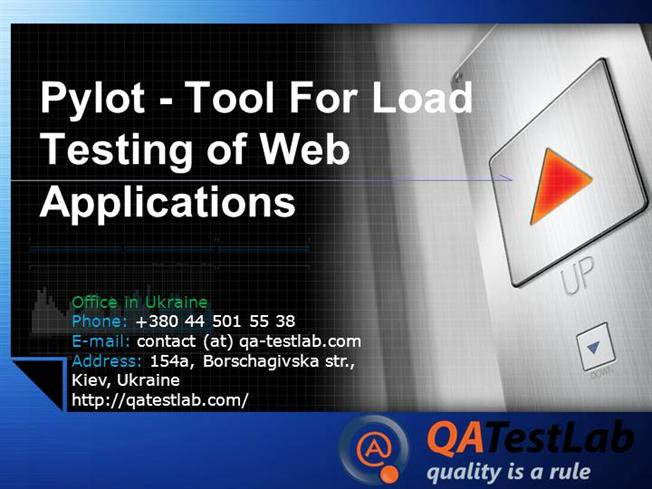 Pylot - Tool for Load Testing of Web |authorSTREAM