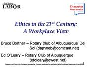 Ethics in 21st Century Presentation at D