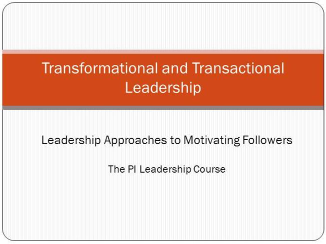 a comparison between transformational leadership and active transactional leadership Transformational leadership is a style of leadership where the leader along with the team, is able to identify the challenges ahead in this article, we look at the differences between transformational and transactional leadership let us first understand the two types of leadership and then move on.