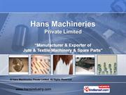 Hans Machineries Private Limited West Bengal India