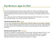 Top Business Apps for ipad