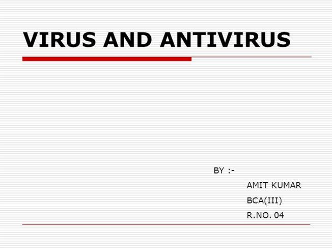 antivirus definition and types ppt