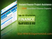 Finance Online Tutoring, Finance Homework Help, Assignment Help