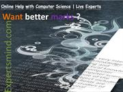 Computer Science Assignment Help, Homework Help : ExpertsMind.com