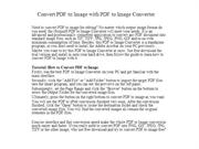 Convert PDF to Image with PDF to Image Converter