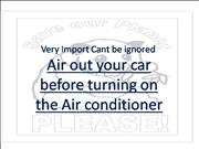 Air out b4 switching AirConditioner on